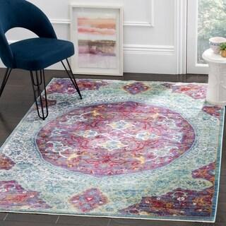 Safavieh Sutton Nilgul Boho Oriental Polyester Rug (5 x 7 - Purple/Turquoise)