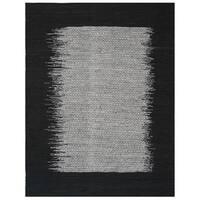 Safavieh Vintage Leather HandWoven Modern Geometric Light Grey/ Black Area Rug - 5' x 8'