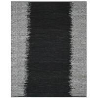 Safavieh Vintage Leather HandWoven Modern Geometric Light Grey/ Black Area Rug - 6' x 9'