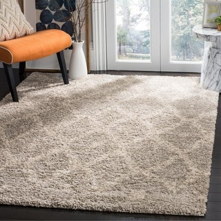 Safavieh Arizona Shag Contemporary Southwestern Grey/ Ivory Area Rug (9' x 12')
