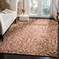 Safavieh Dip Dye HandWoven Wool Modern Geometric Copper/ Beige Area Rug (8' x 10')