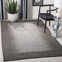 Safavieh Vintage Leather HandWoven Modern Geometric Light Grey/ Grey Area Rug - 8' x 10'