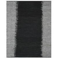 Safavieh Vintage Leather HandWoven Modern Geometric Light Grey/ Black Area Rug - 8' x 10'