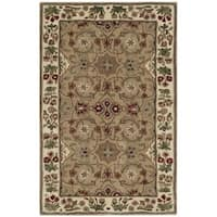 Safavieh Bella HandWoven Wool Contemporary Oriental Tan/ Ivory Area Rug - 2'6 x 4'