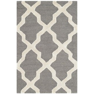 Safavieh Cambridge HandWoven Wool Contemporary Geometric Grey/ Ivory Area Rug (2' x 3')