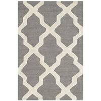 Safavieh Cambridge HandWoven Wool Contemporary Geometric Grey/ Ivory Area Rug - 2' X 3'