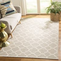 Safavieh Montauk HandWoven Cotton Transitional Geometric Grey/ Ivory Area Rug - 2'6 x 4'