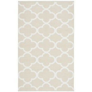Safavieh Montauk HandWoven Cotton Transitional Geometric Beige/ Ivory Area Rug (2'6 x 4')