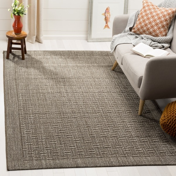 Safavieh Palm Beach Sisal Transitional Geometric Silver Area Rug - 2' x 3'