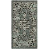 Safavieh Palazzo Black/ Cream/ Light Green Medallion Area Rug - 2' x 3'6