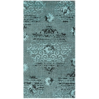 Safavieh Palazzo Transitional Oriental Light Blue/ Black Runner Rug (2' x 3'6)