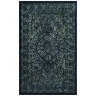 Safavieh Paradise Viscose Vintage Oriental Blue/ Multi Runner Rug (2'7 x 4')