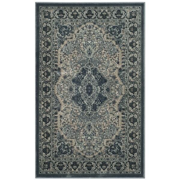 Safavieh Paradise Viscose Vintage Oriental Light Blue/ Blue Runner Rug (2'7 x 4')
