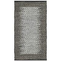 Safavieh Vintage Leather HandWoven Modern Geometric Light Grey/ Grey Area Rug (2' x 3')