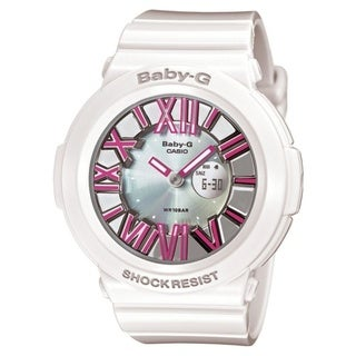 Casio Women's BGA160-7B2 'Baby-G' Analog-Digital White Resin Watch
