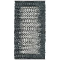 Safavieh Vintage Leather HandWoven Modern Geometric Light Grey/ Charcoal Area Rug - 2'3 x 4'