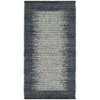 Safavieh Vintage Leather HandWoven Modern Geometric Light Grey/ Charcoal Area Rug - 2'3 x 4'