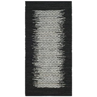 Safavieh Vintage Leather HandWoven Modern Geometric Light Grey/ Black Area Rug (2' x 3')