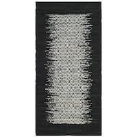Safavieh Vintage Leather HandWoven Modern Geometric Light Grey/ Black Area Rug - 2' x 3'