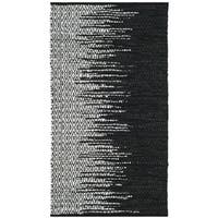 Safavieh Vintage Leather HandWoven Modern Geometric Light Grey/ Black Area Rug - 2'3 x 4'