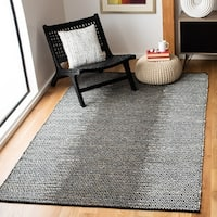 Safavieh Vintage Leather HandWoven Modern Geometric Light Grey/ Grey Area Rug - 2' x 3'