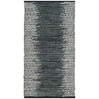 Safavieh Vintage Leather HandWoven Modern Geometric Light Grey/ Charcoal Area Rug (2' x 3')