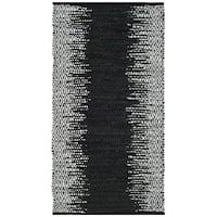 Safavieh Vintage Leather HandWoven Modern Geometric Light Grey/ Black Area Rug - 2'3 x 4'