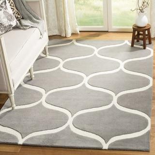 Safavieh Cambridge HandWoven Wool Transitional Geometric Dark Grey/ Ivory Area Rug (2' x 3')