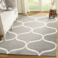 Safavieh Cambridge HandWoven Wool Transitional Geometric Dark Grey/ Ivory Area Rug (2' x 3')