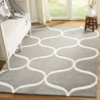 Safavieh Cambridge HandWoven Wool Transitional Geometric Dark Grey/ Ivory Area Rug - 2' x 3'