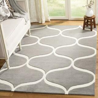 Safavieh Cambridge HandWoven Wool Transitional Geometric Dark Grey/ Ivory Area Rug - 2' x 3'