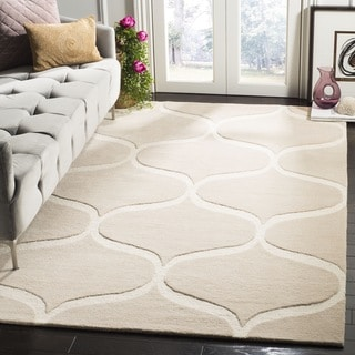 Safavieh Cambridge HandWoven Wool Transitional Geometric Light Beige/ Ivory Area Rug (2' x 3')