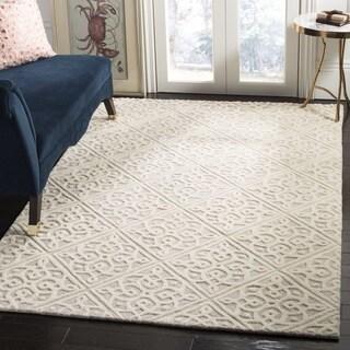 Safavieh Cambridge HandWoven Wool Transitional Geometric Light Grey/ Ivory Area Rug (2' x 3')