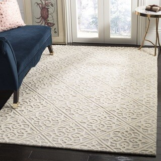 Safavieh Cambridge HandWoven Wool Transitional Geometric Light Grey/ Ivory Area Rug (2' x 3')