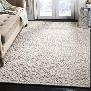 Safavieh Cambridge HandWoven Wool Transitional Geometric Ivory/ Grey Area Rug - 2' x 3'