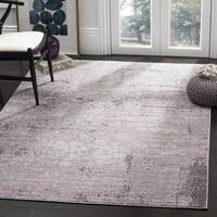Safavieh Adirondack Contemporary Abstract Light Grey/ Purple Area Rug - 6' x 6' Square