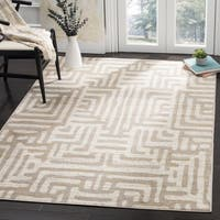 Safavieh Amsterdam Southwestern Abstract Ivory/ Mauve Area Rug - 6'7 Square