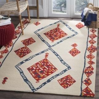 Safavieh Aspen HandWoven Wool Southwestern Geometric Ivory/ Multi Area Rug (7' Square)