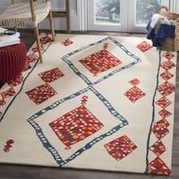 Safavieh Aspen HandWoven Wool Southwestern Geometric Ivory/ Multi Area Rug - 7' Square