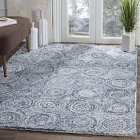 Safavieh Nantucket HandWoven Cotton Traditional Geometric Blue Area Rug - 6' Square