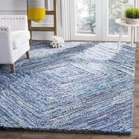 Safavieh Nantucket HandWoven Cotton Traditional Geometric Blue Area Rug (6' Square)