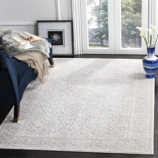 Safavieh Reflection Transitional Oriental Light Grey/ Cream Area Rug (6'7 Square)