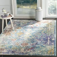 Safavieh Sutton Watercolor Turquoise/ Lavender Area Rug - 6' Square