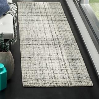 Safavieh Handmade Modern Abstract Grey/ Black Runner Rug (2'3 x 8')