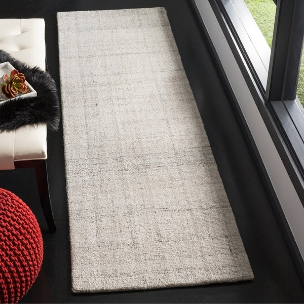 Safavieh Handmade Modern Abstract Light Grey Runner Rug - 2'3 x 8'