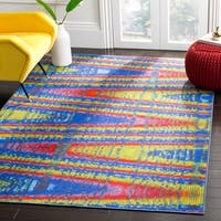 Safavieh Aztec Southwestern Abstract Blue/ Multi Runner Rug - 2'3 x 8'