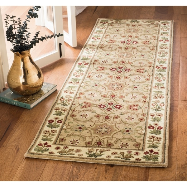 Safavieh Bella HandWoven Wool Contemporary Oriental Tan/ Ivory Runner Rug - 2'3 x 7'