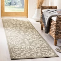 Safavieh Cedar Brook HandWoven Cotton Transitional Geometric Grey/ Natural Runner Rug (2'3 x 8') - 2'3 x 8'