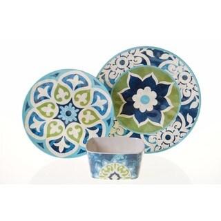 Certified International Barcelona Multicolored Melamine 12-piece Dinnerware Set
