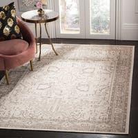 "Safavieh Essence Wool Traditional Geometric Natural/ Taupe Runner Rug - 2'3"" x 8'"